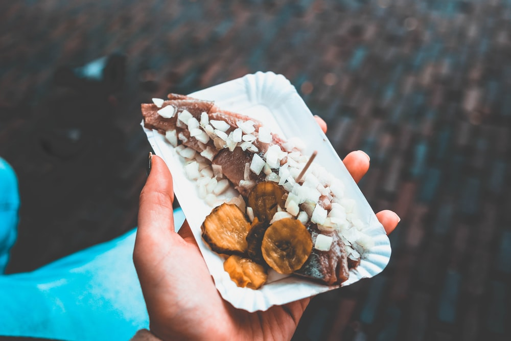 selective focus photography of fried food