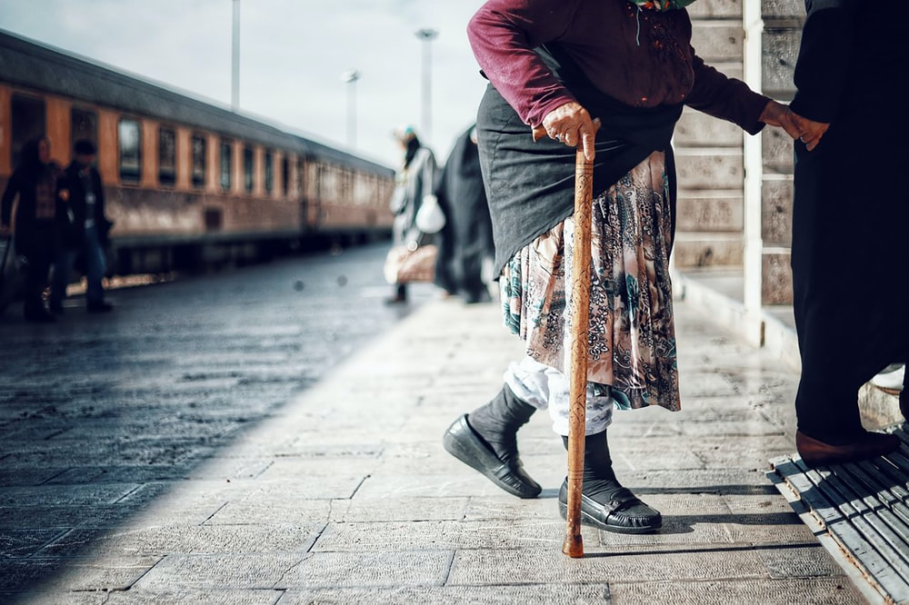 person standing on street