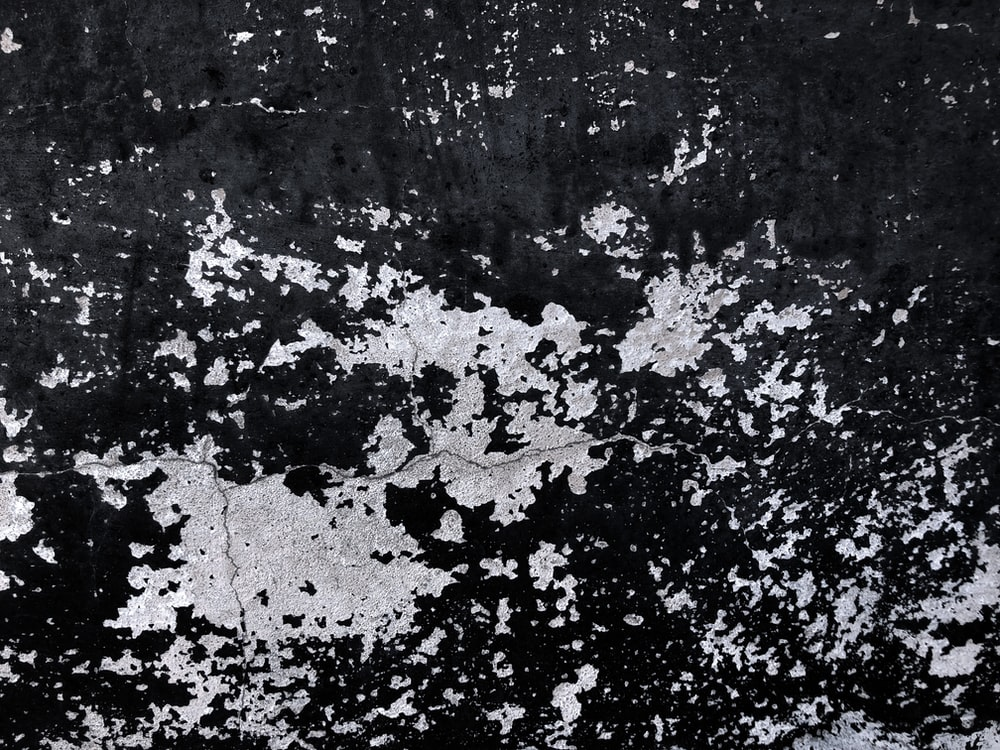 chipped black paint