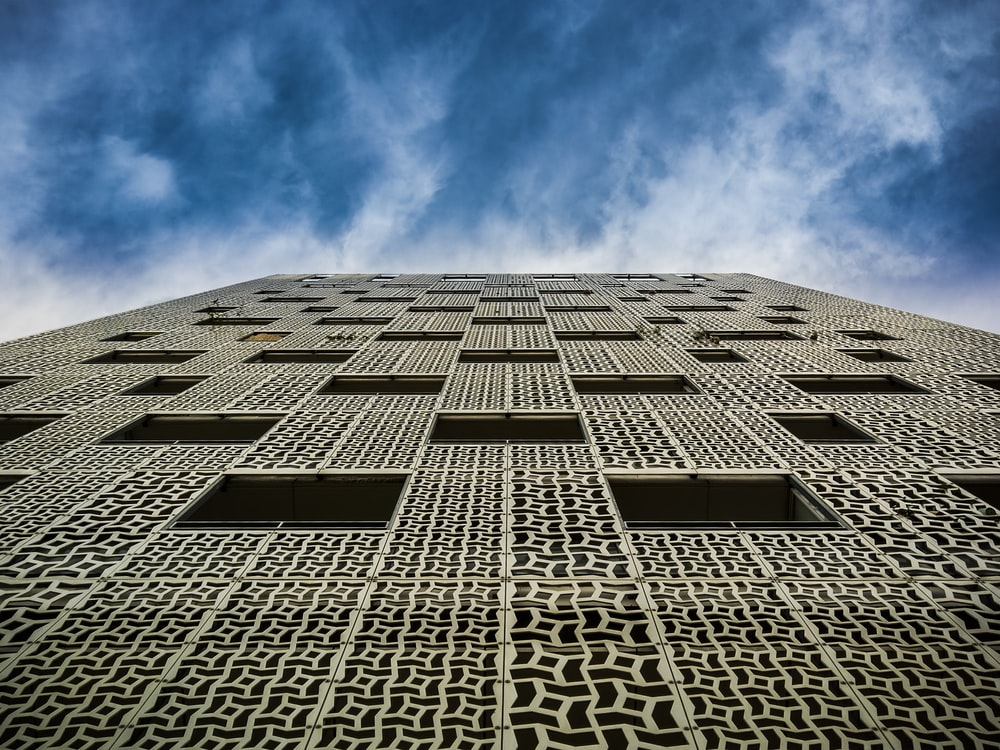 low-angle photography of concrete building