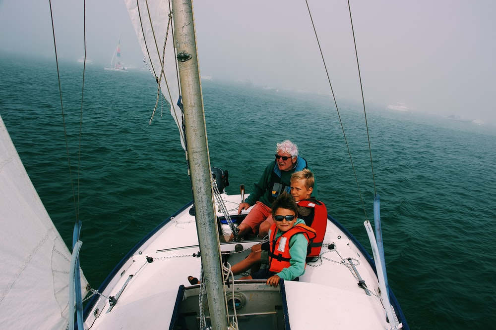 group of people in the yacht