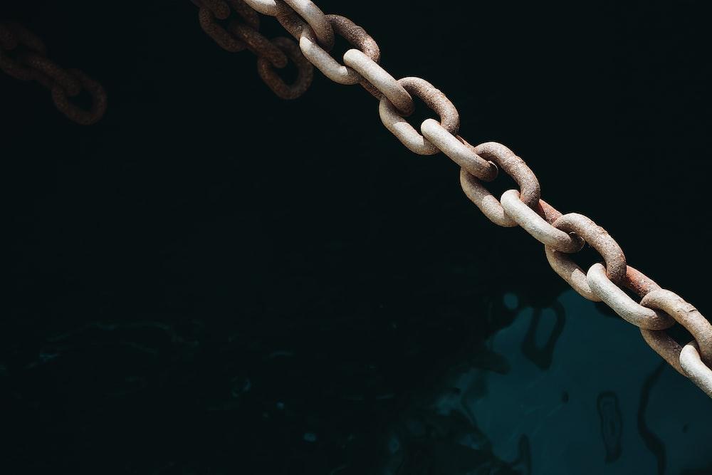 brown steel chain