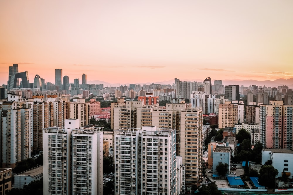 high-rise buildings during golden hour