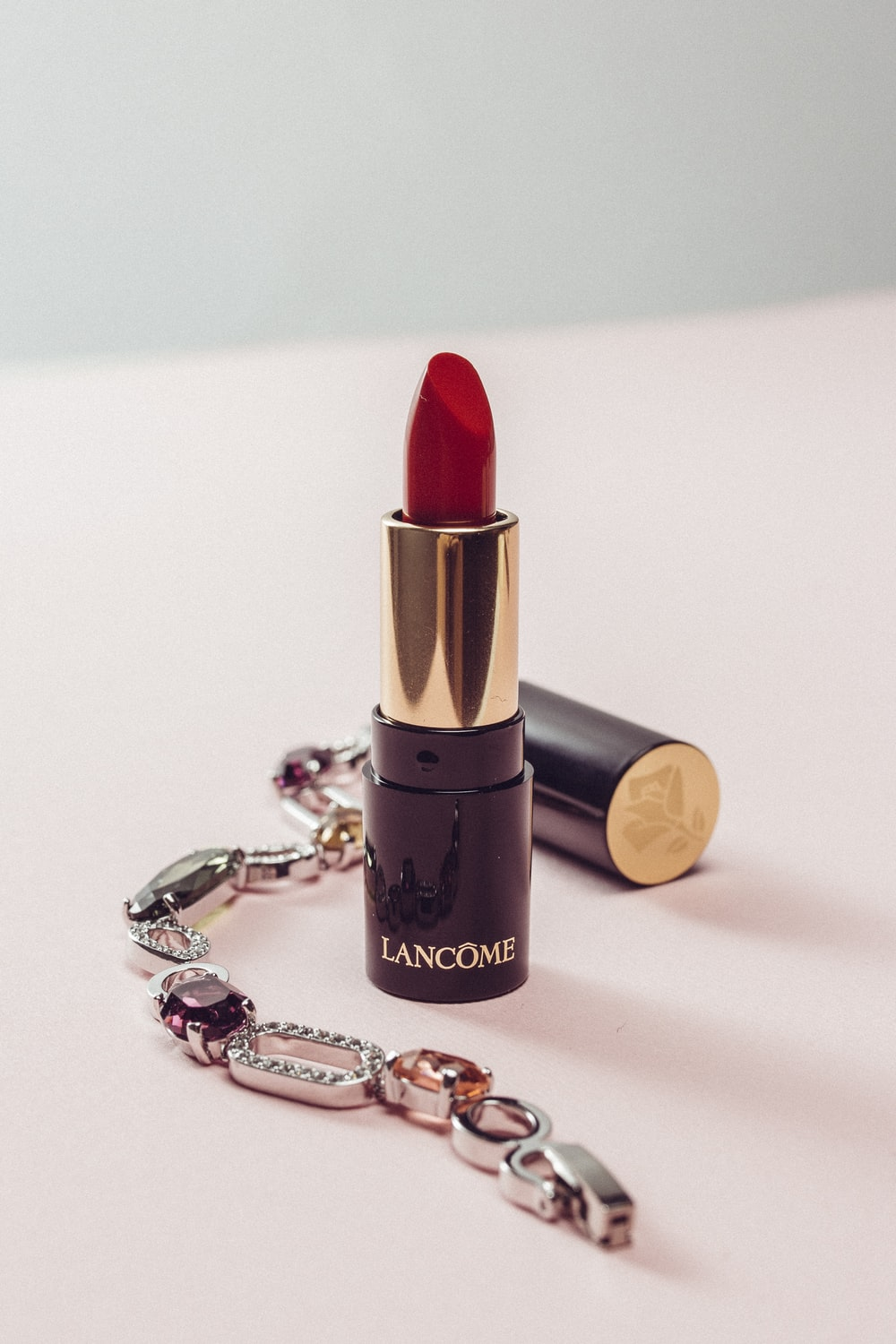 red Lancome lipstick