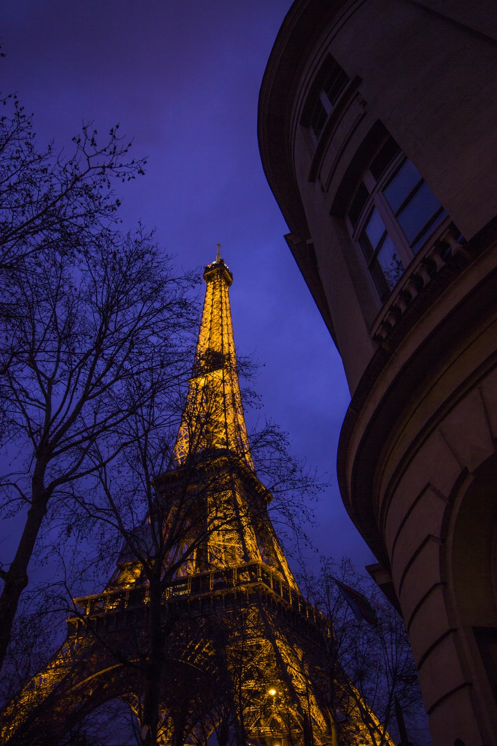 Eiffel Tower At Night Pictures Download Free Images On