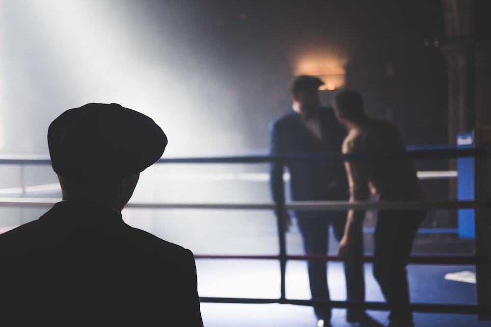 2 men in the ring facing