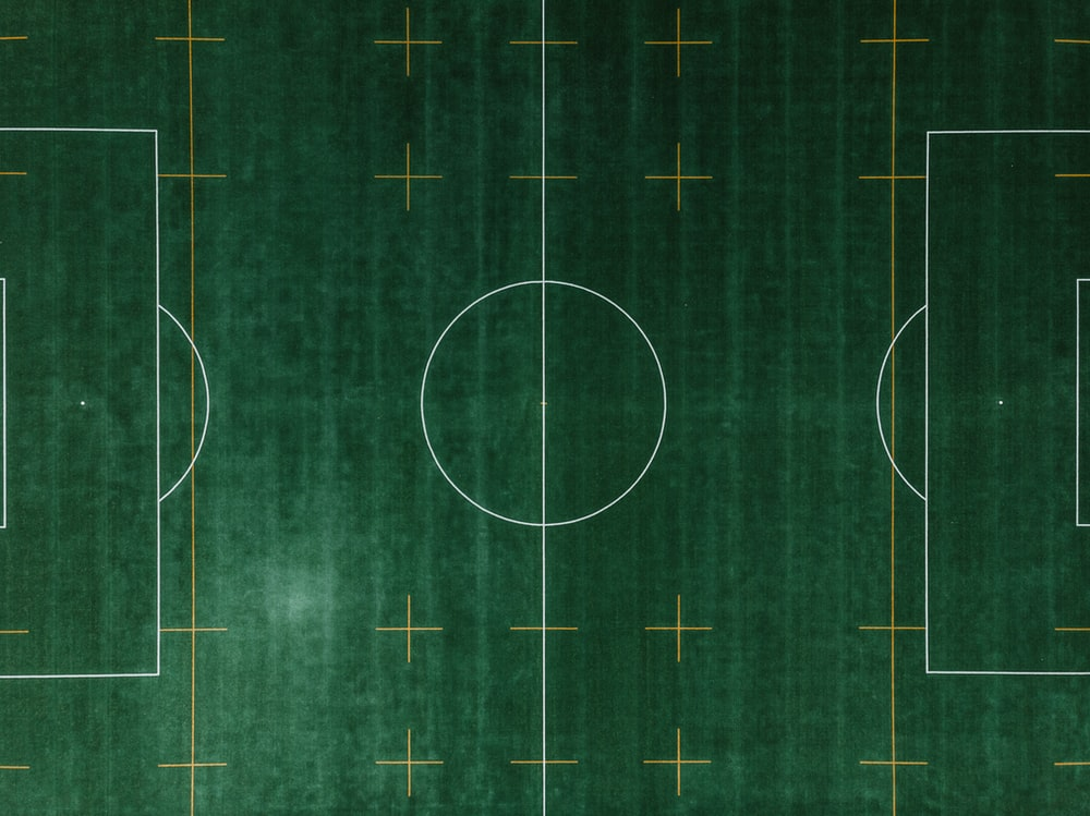 soccer field aerial photo