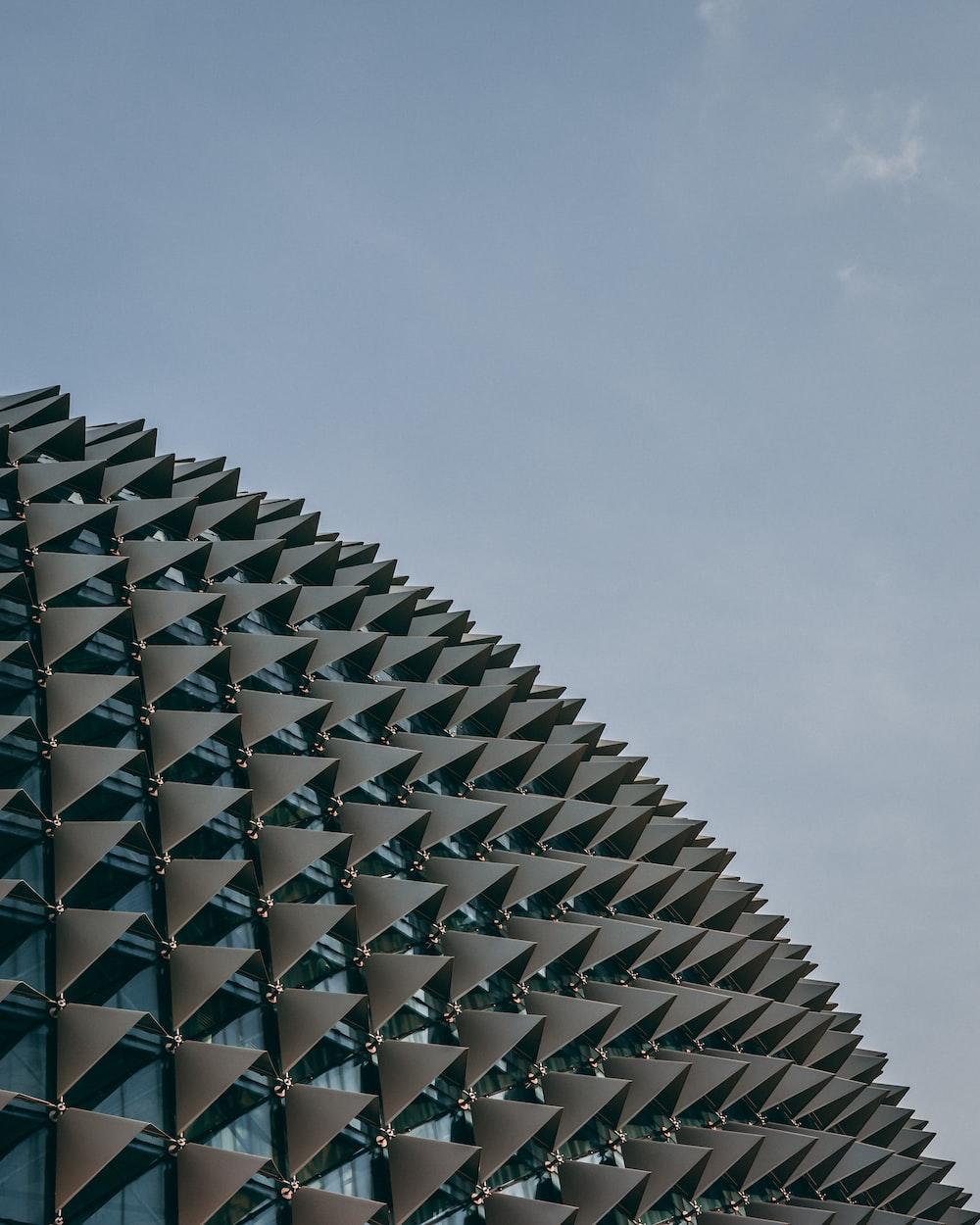gray spiky building