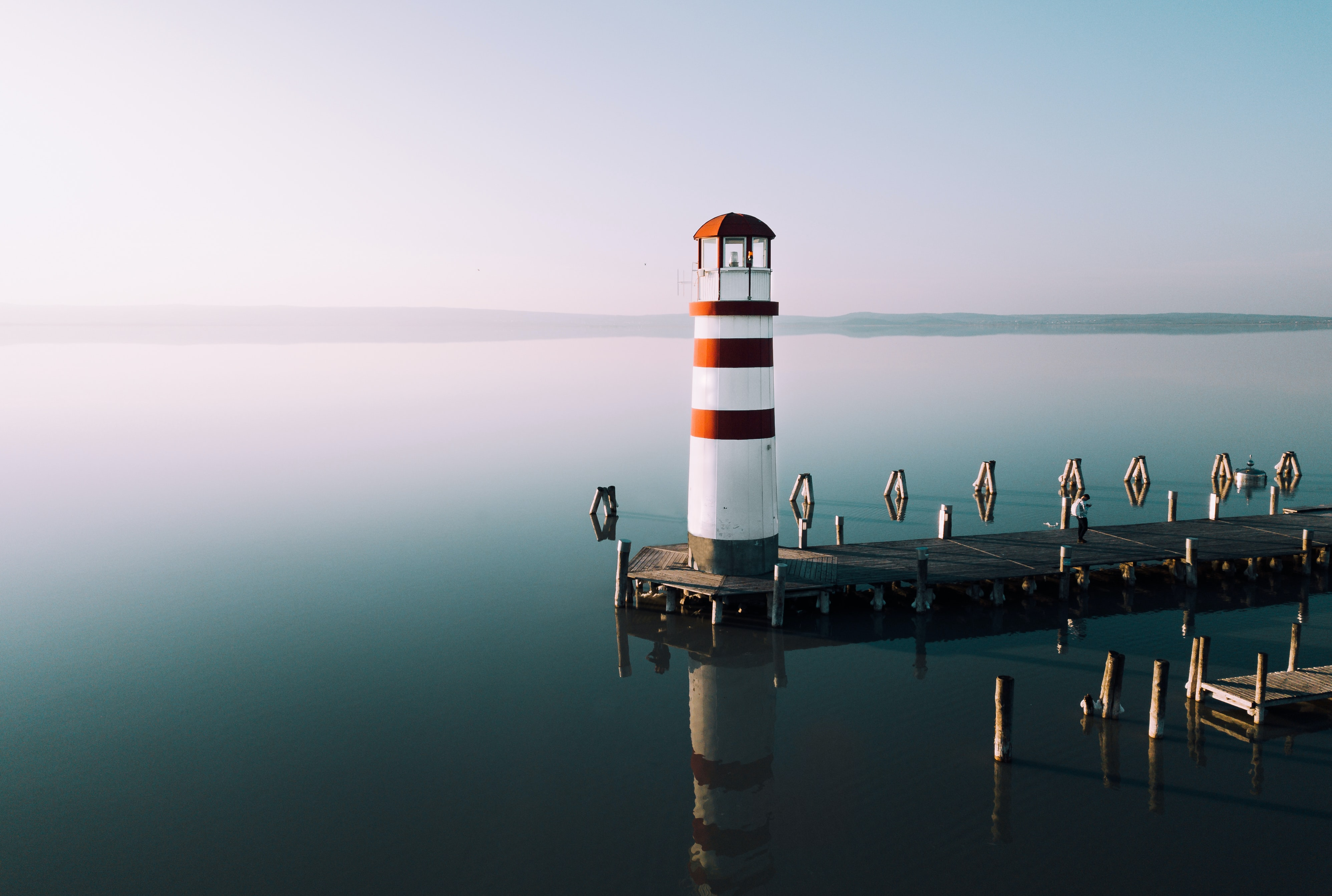 lighthouse near body of water