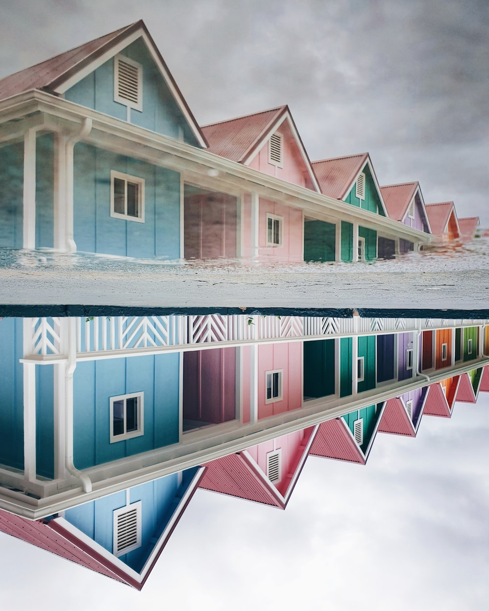 landscape photo of wooden houses