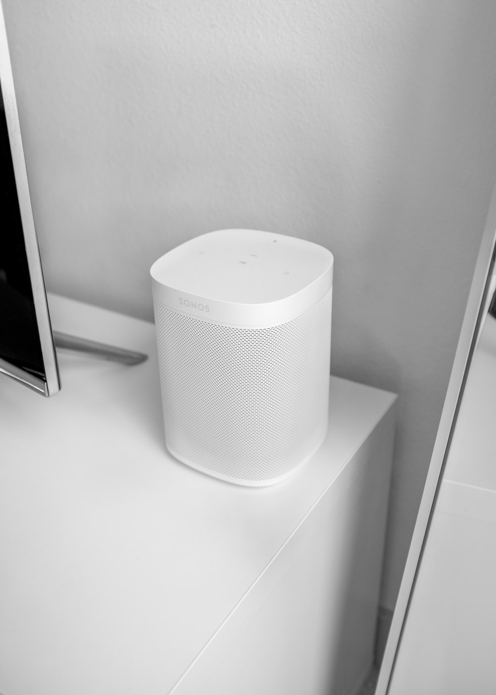 white Bluetooth speaker