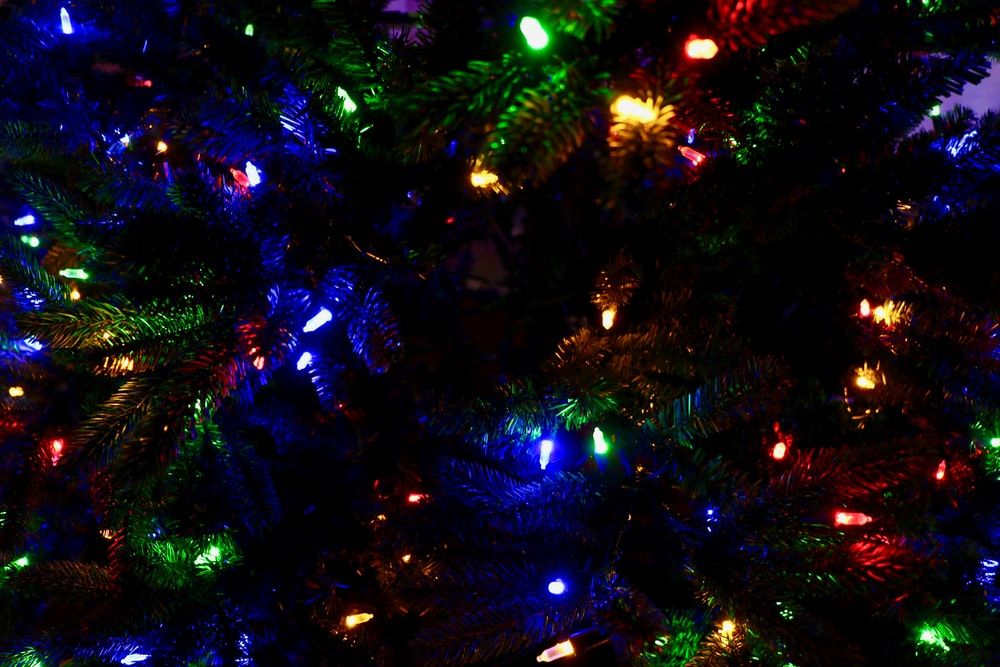 multicolored holiday tree