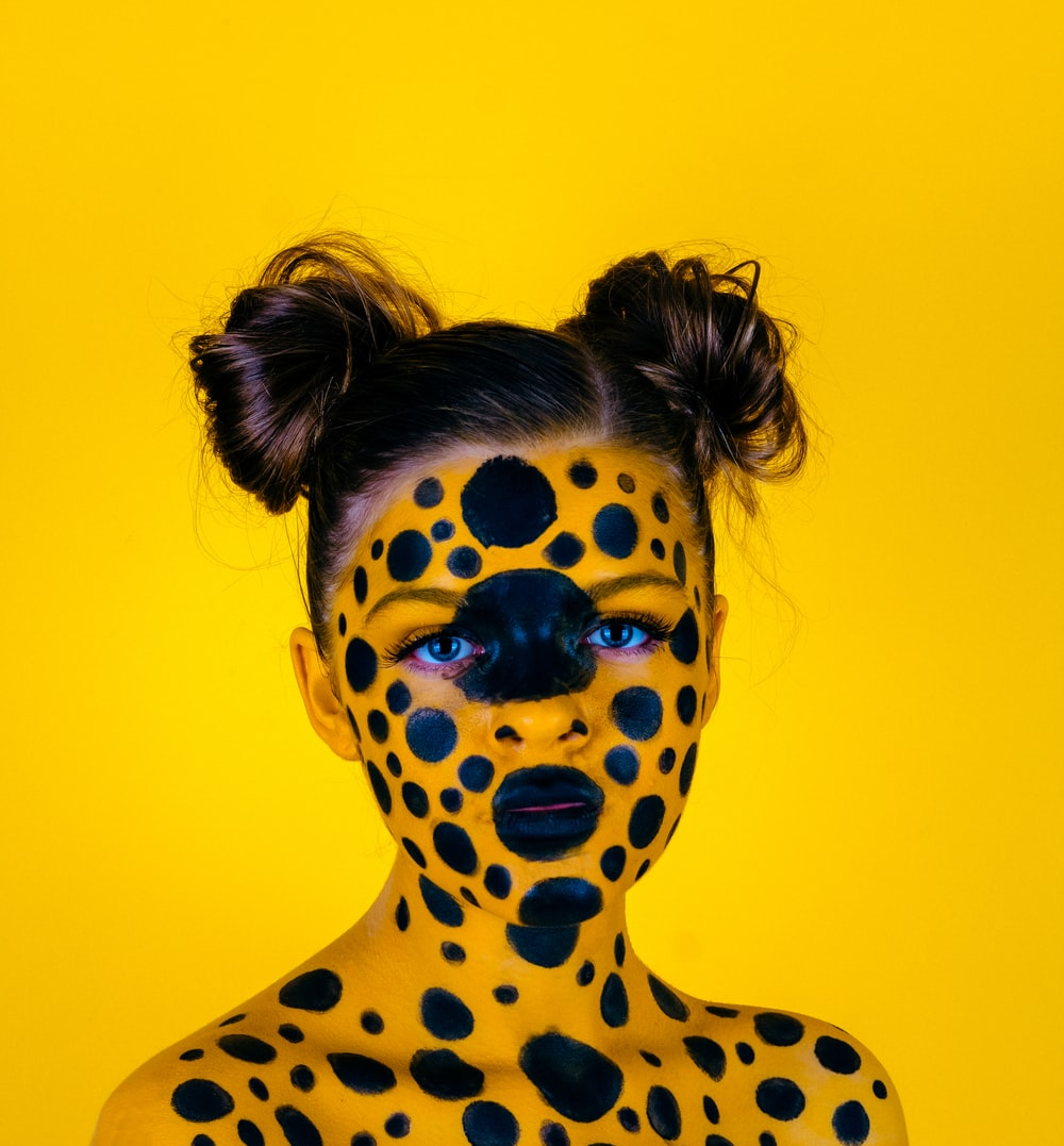 woman with body paint