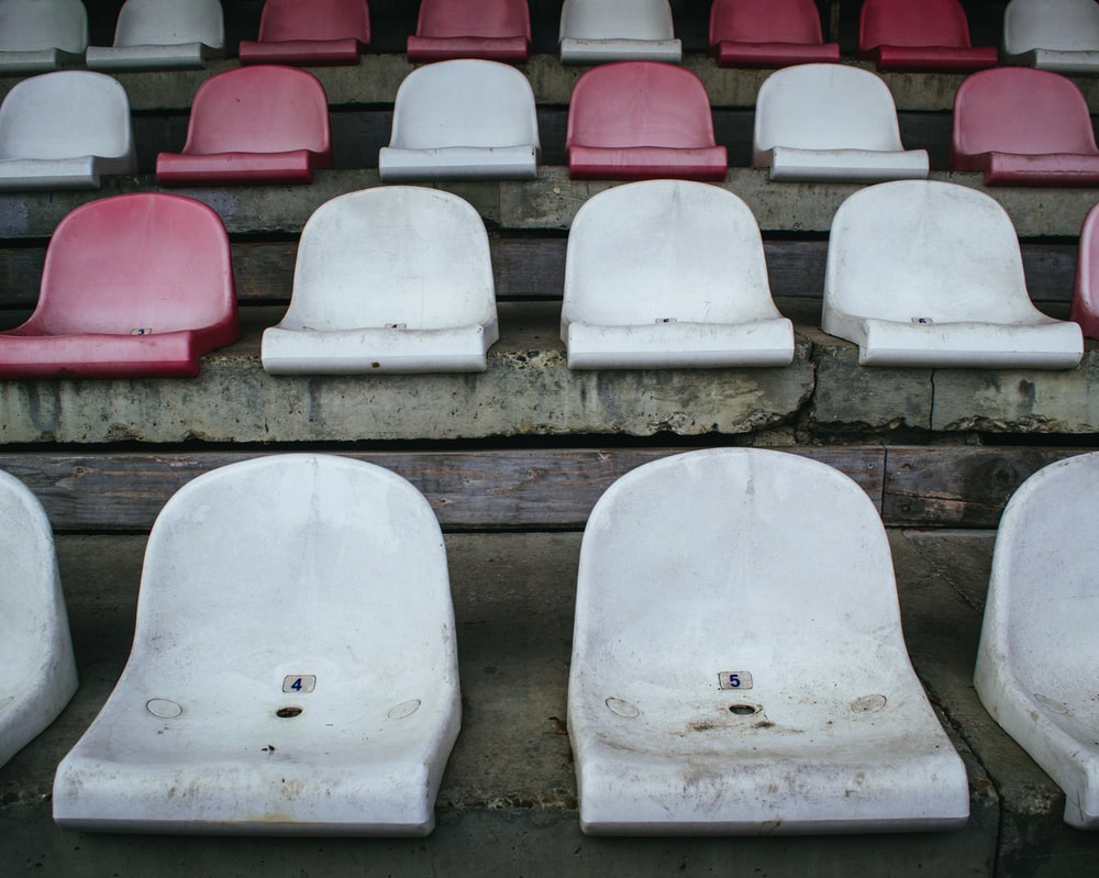 empty white and red seats