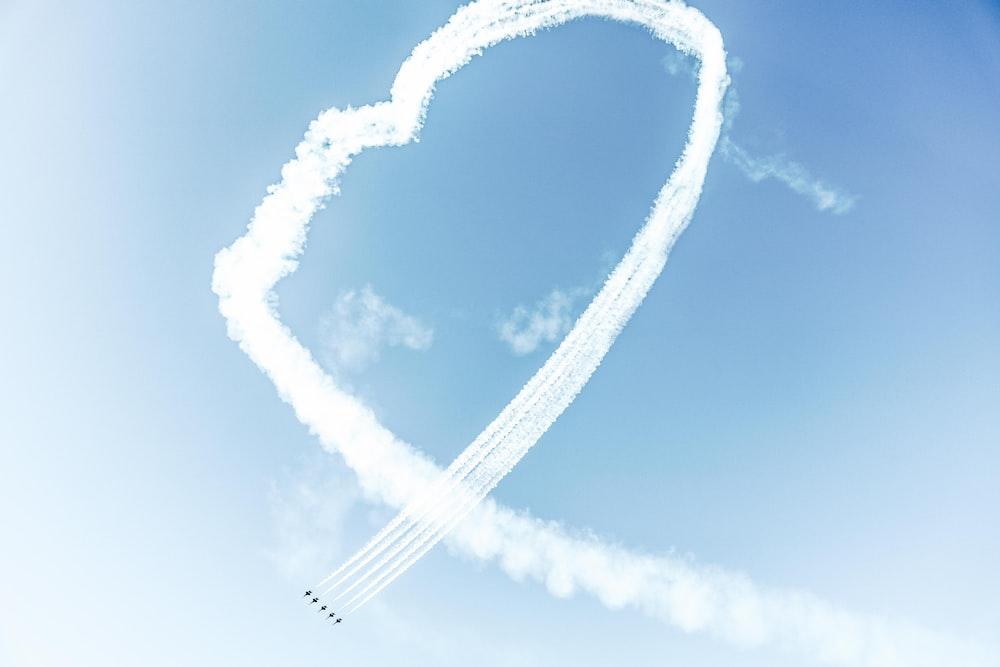 jetplanes on mid air