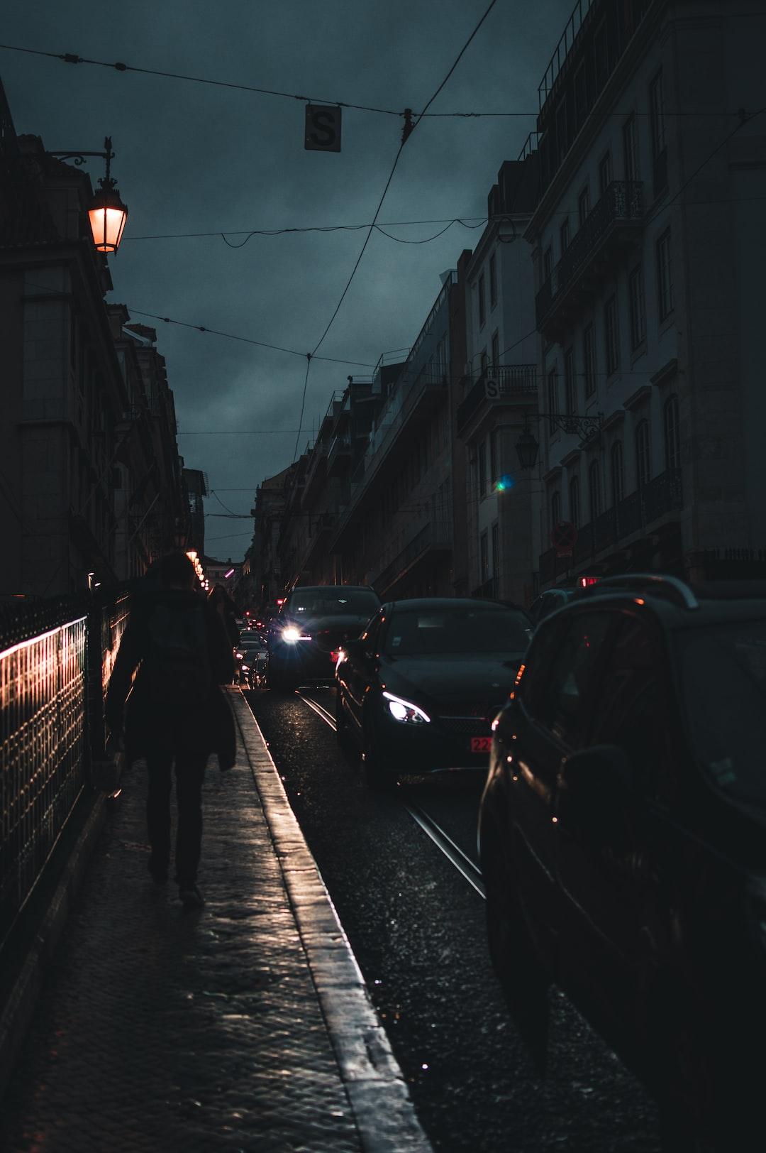 Almost night in Lisbon