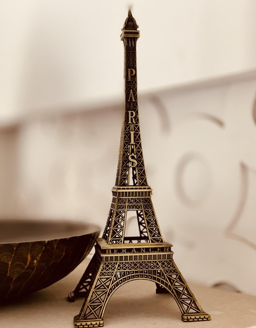 black metal Paris Eiffel Tower table decor