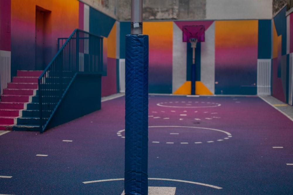 illustration of basketball court