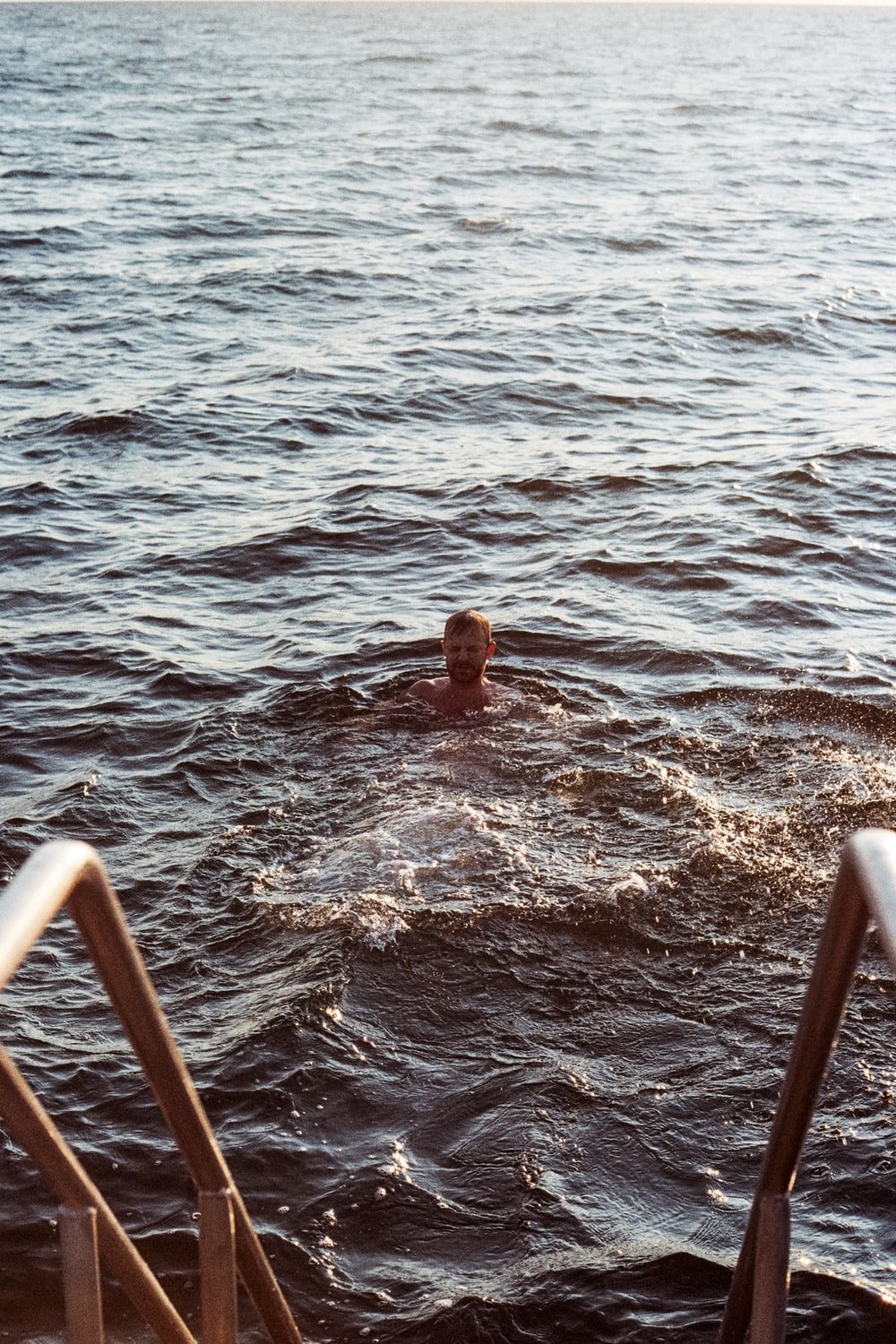 person in sea