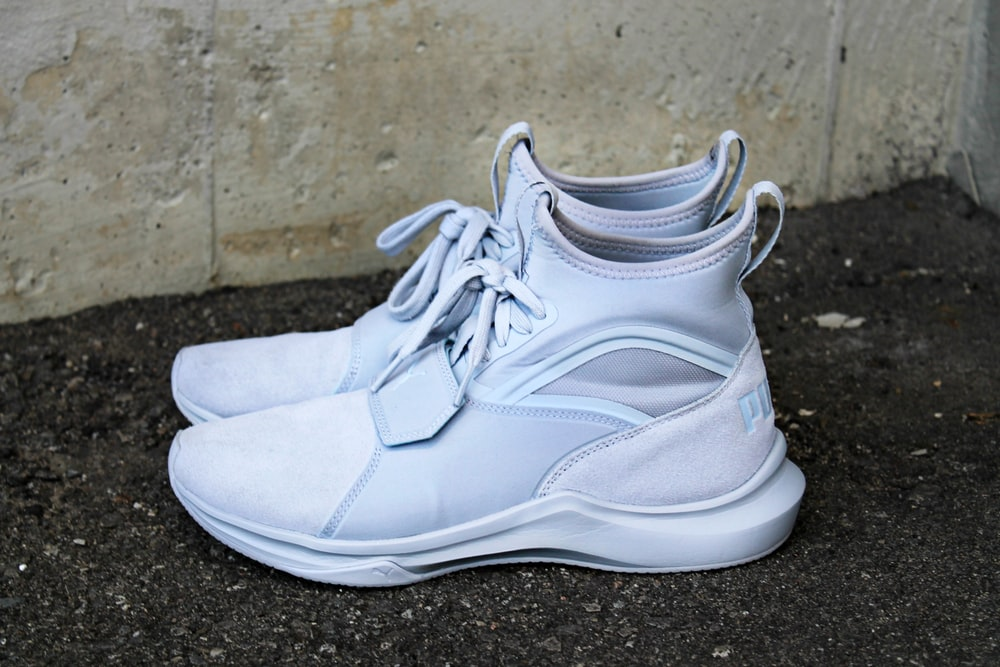 white high-top shoes