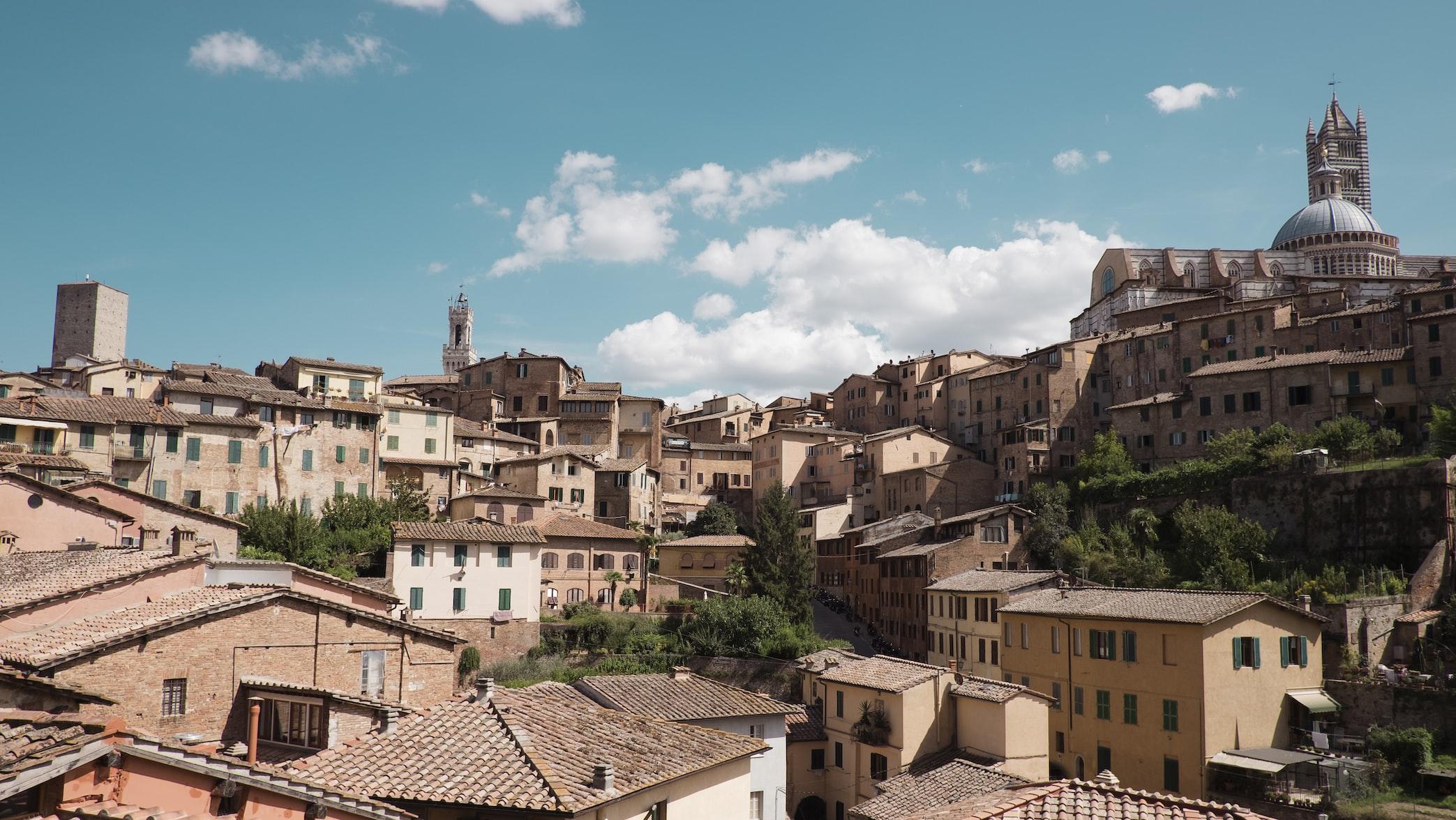 skyline of Siena, Italy