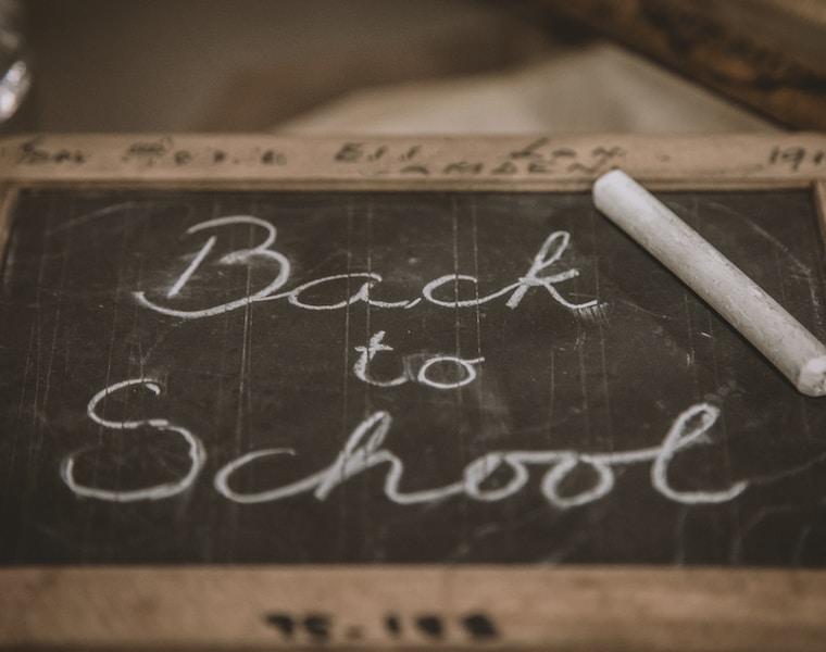Back to School chalk