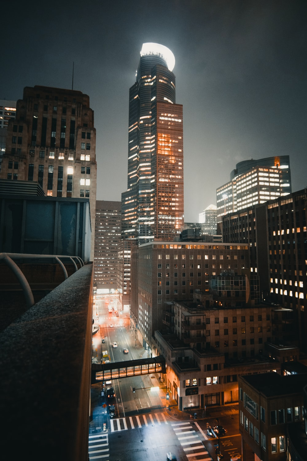 black and brown city scape during nighttime