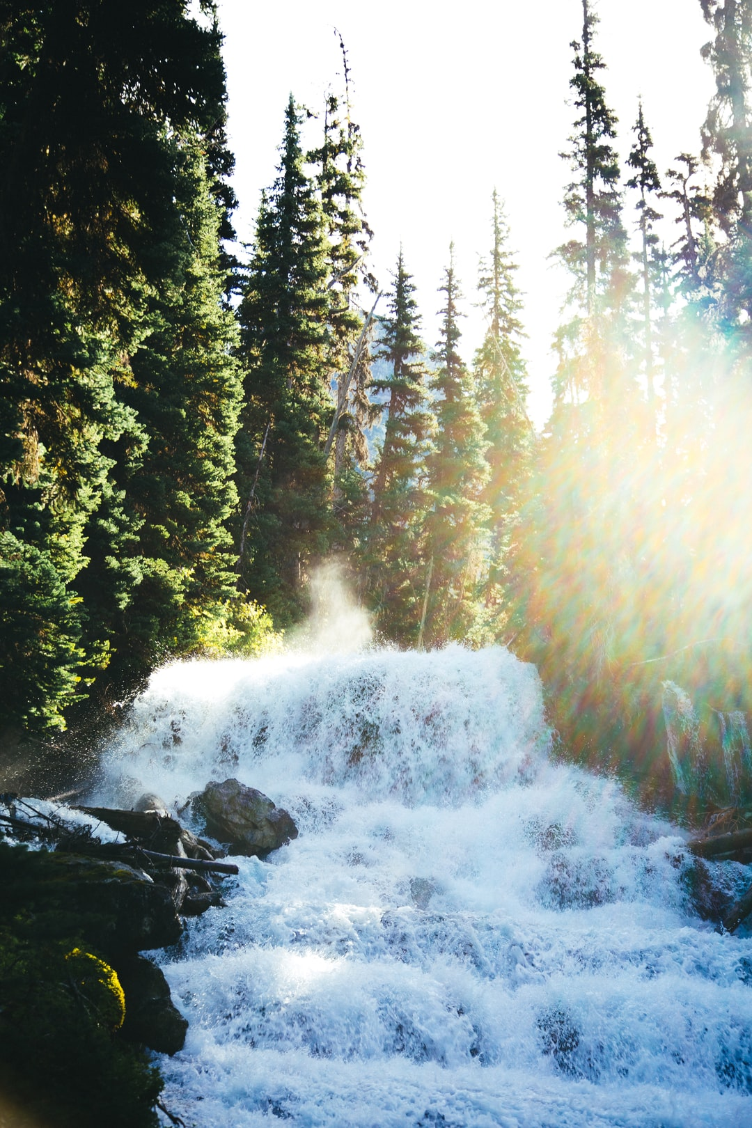 Holloway Falls in Joffre Lakes Provincial Park. This waterfall flows at it's highest in late spring to early summer flowing from the upper to the middle lake.  If you're interested in using this image on your website and plan on including an attribution, would you please link to my website, www.jackchurch.photo in the description? Thank you!