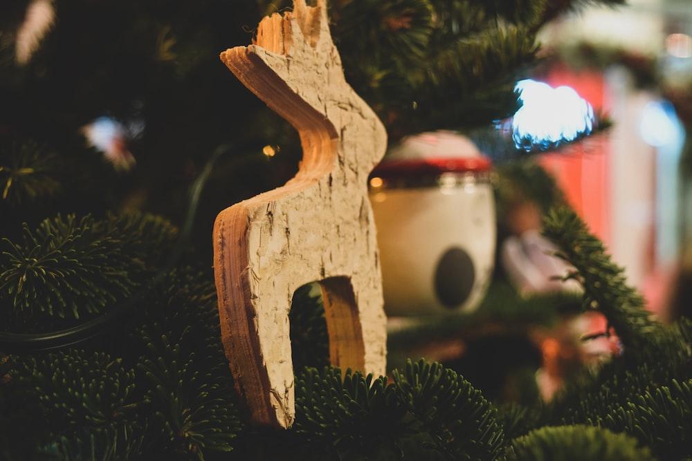 brown reindeer Christmas bauble