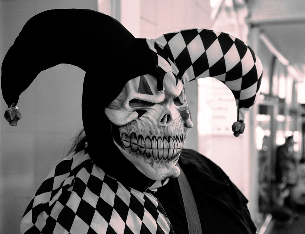 person wearing clown costume