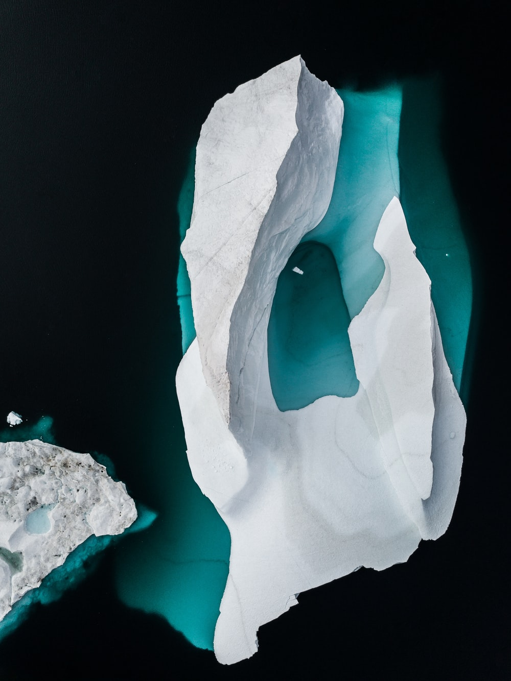 Iceberg drone photo