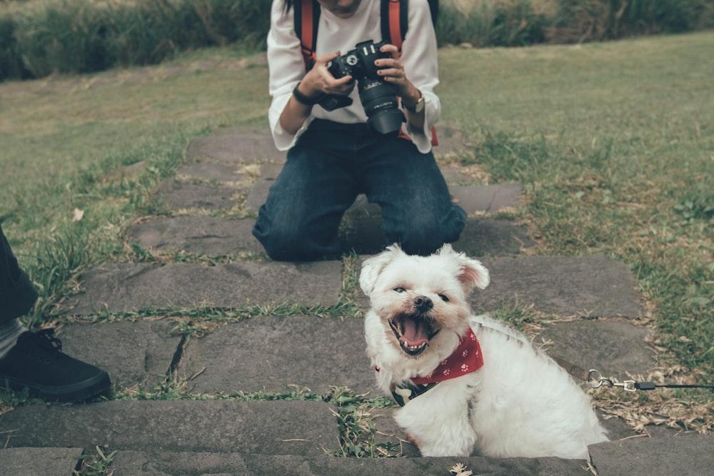 woman holding camera