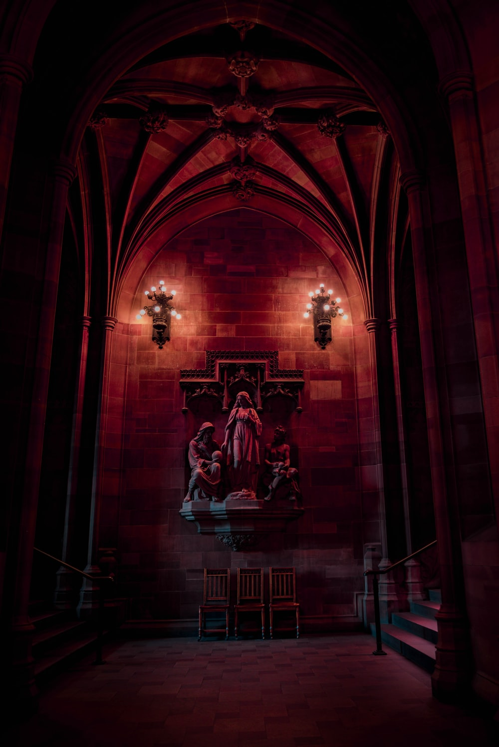 religious statues inside cathedral
