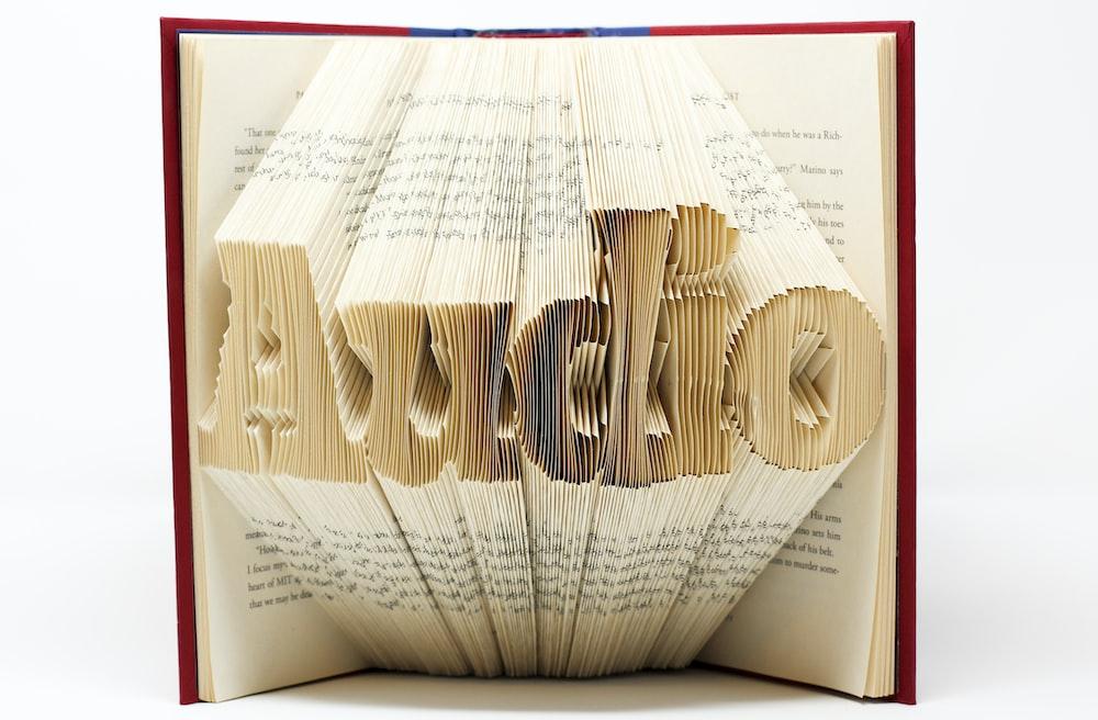 audio book art on white surface