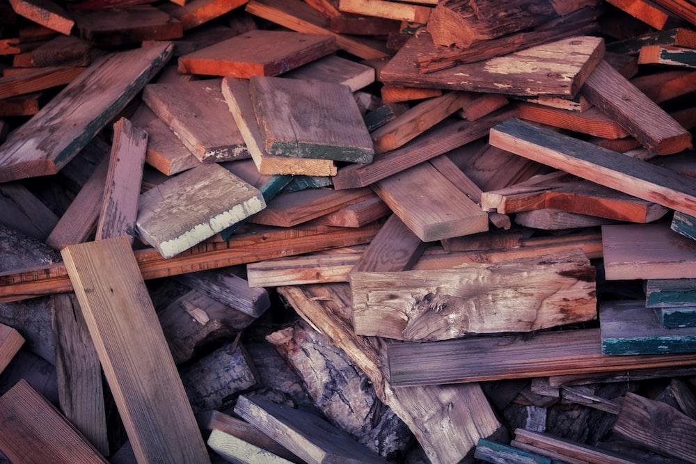 brown wooden lumbers