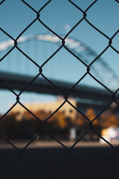 grey chainlink fence photography