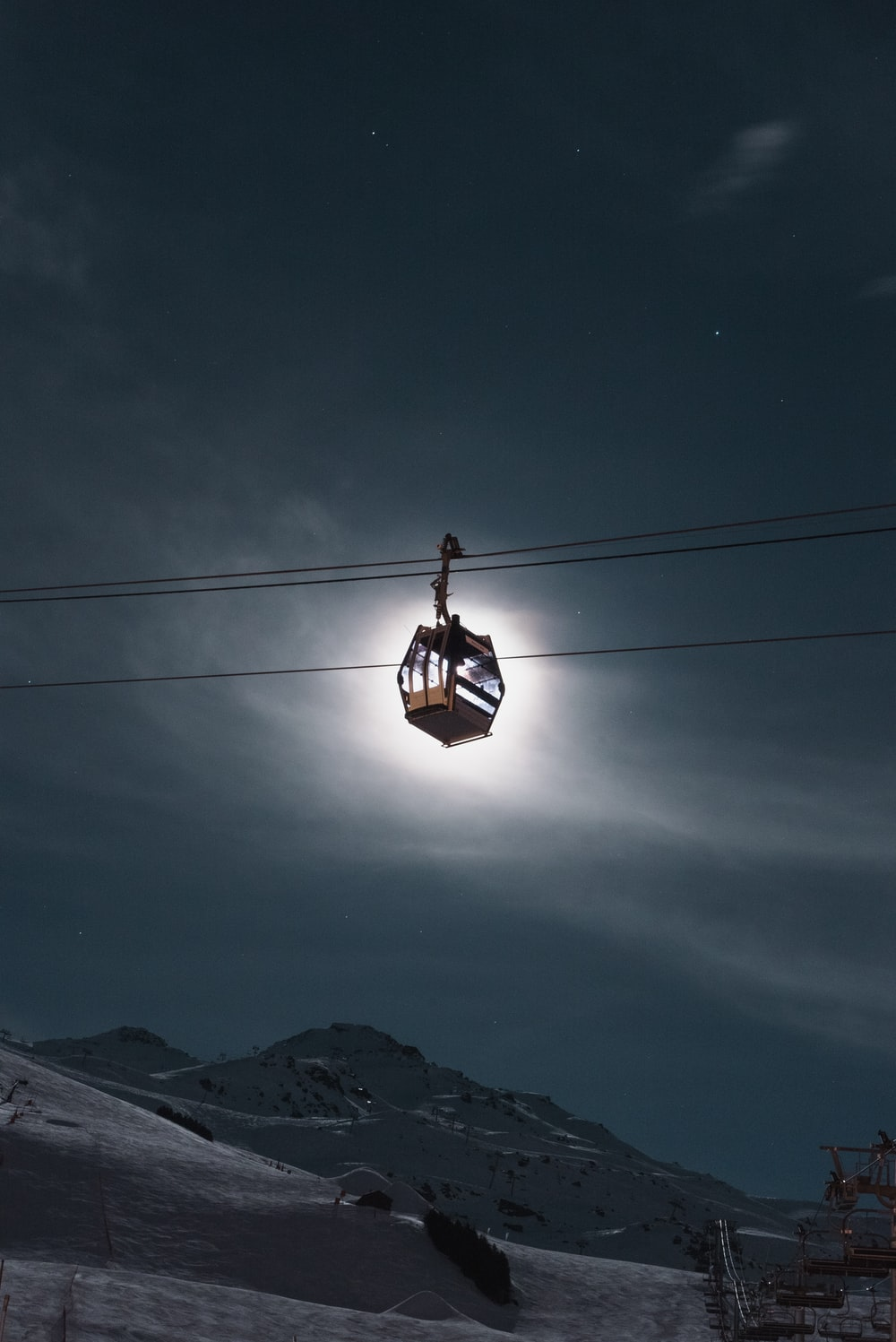 cable ride at night