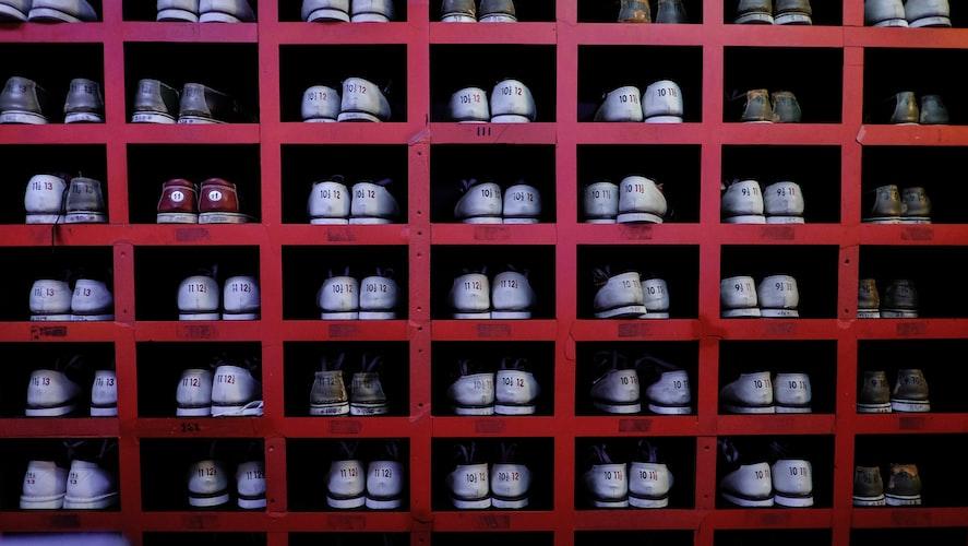 Pares de zapatos ordenados