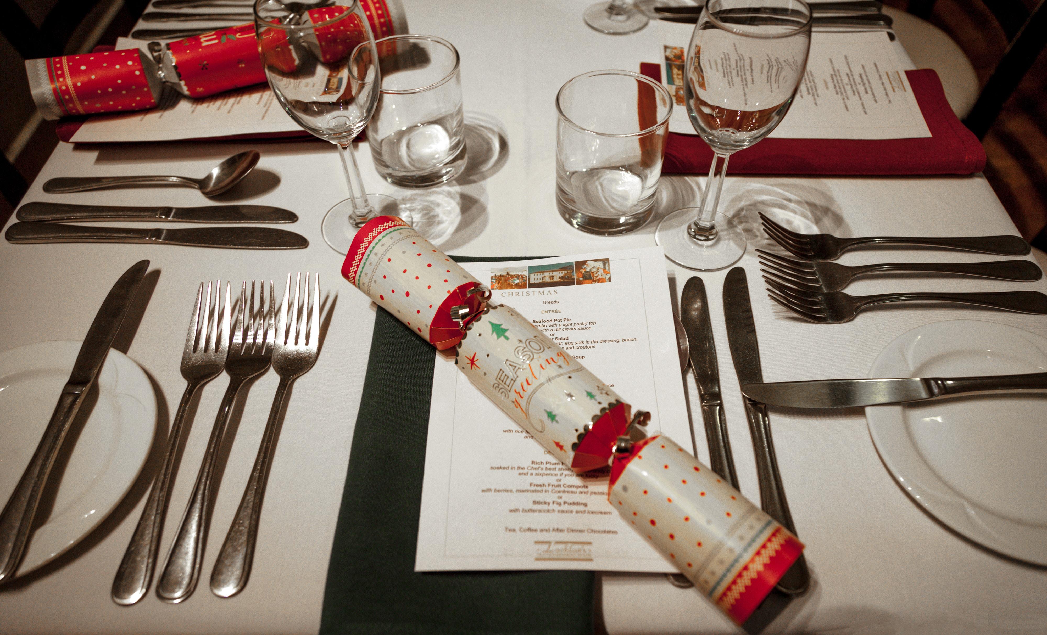 flatware on table