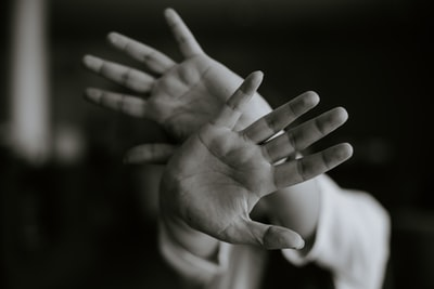person stretching their hands libya zoom background