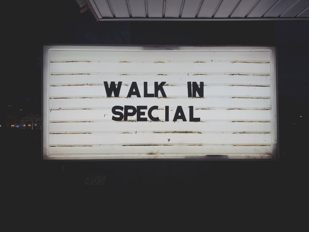 Walk In Special LED signage