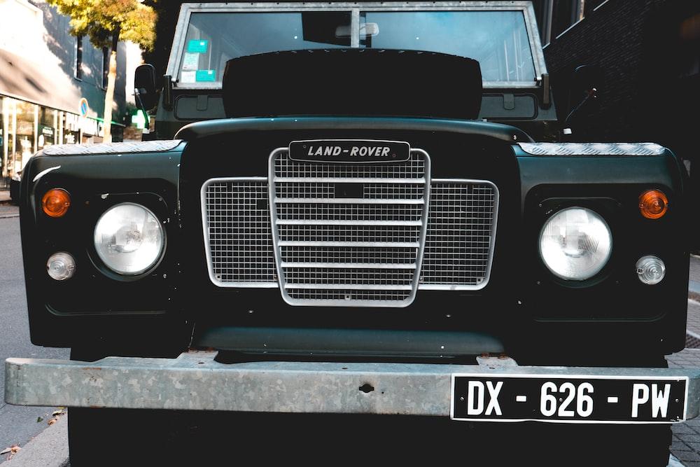 black vehicle at daytime
