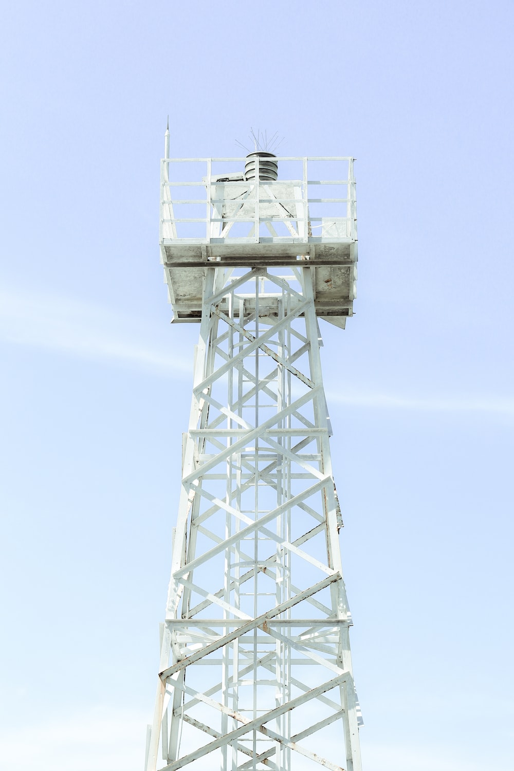white electric tower