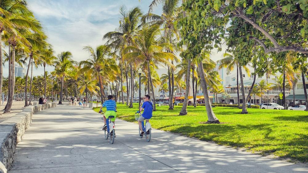 boy riding gray bikes