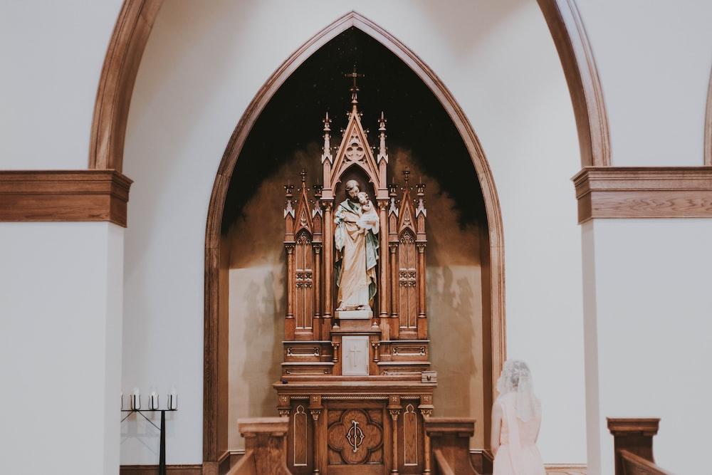brown religious sculpture