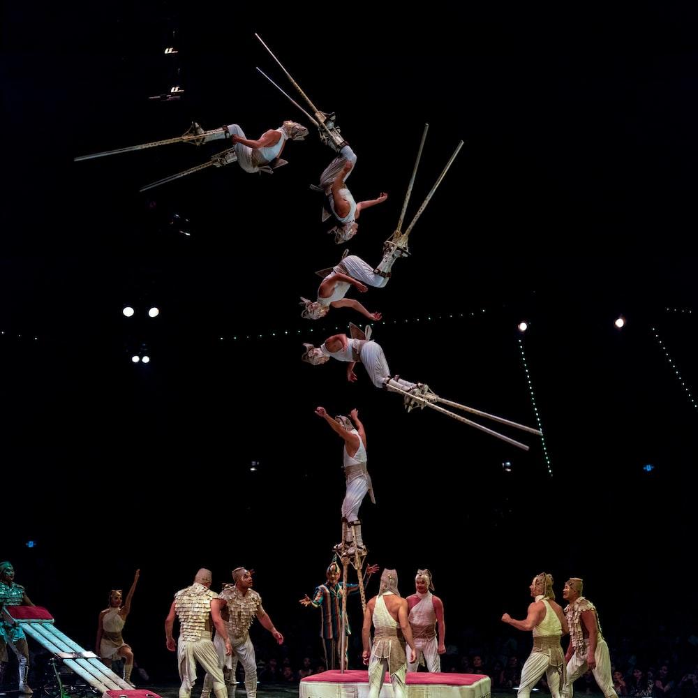 acrobat taking stunts