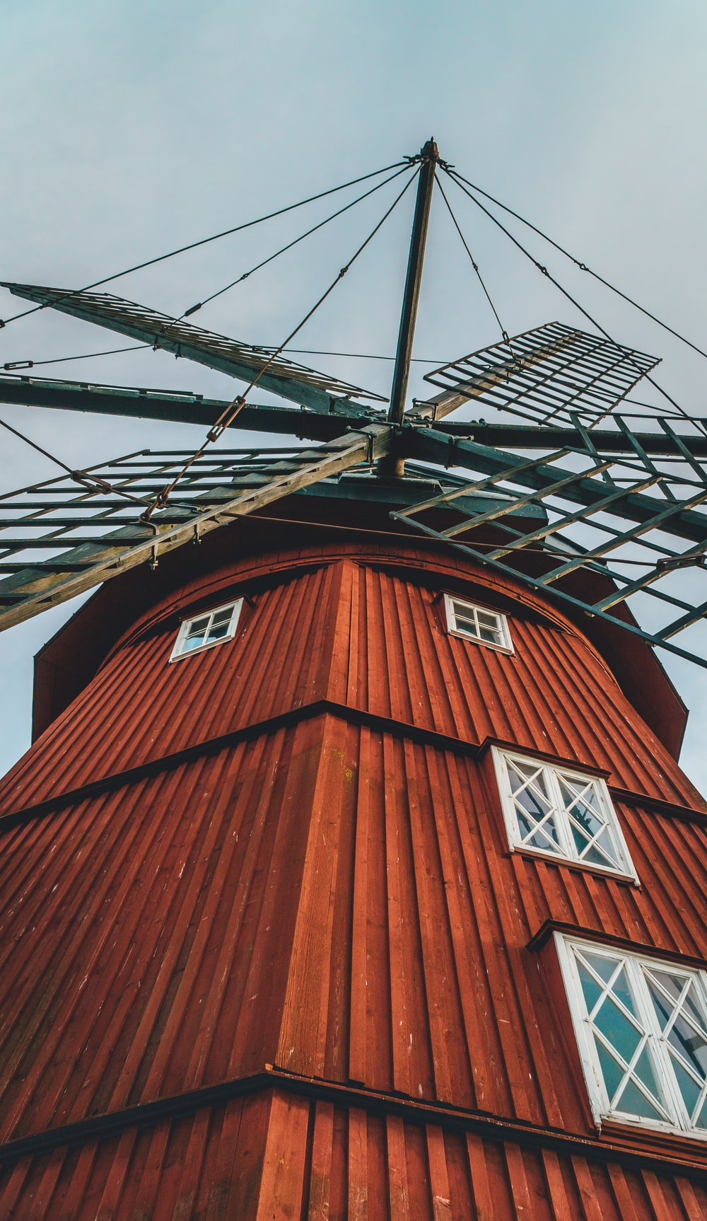 brown and black windmill during daytime
