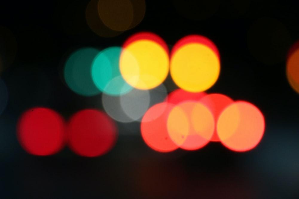 assorted-color bokeh light