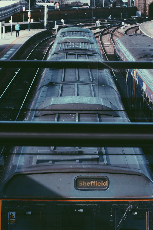 black and gray Sheffield train