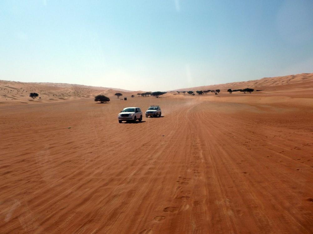 vehicles on desert